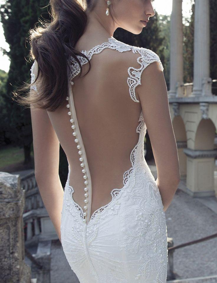 Свадьба - Berta Sheer Back Lace Gown (In Stores Only)