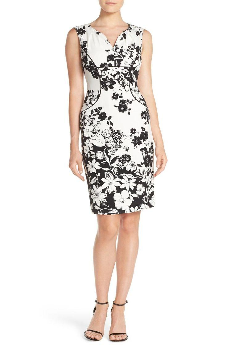 Свадьба - Adrianna Papell Floral Print Sheath Dress