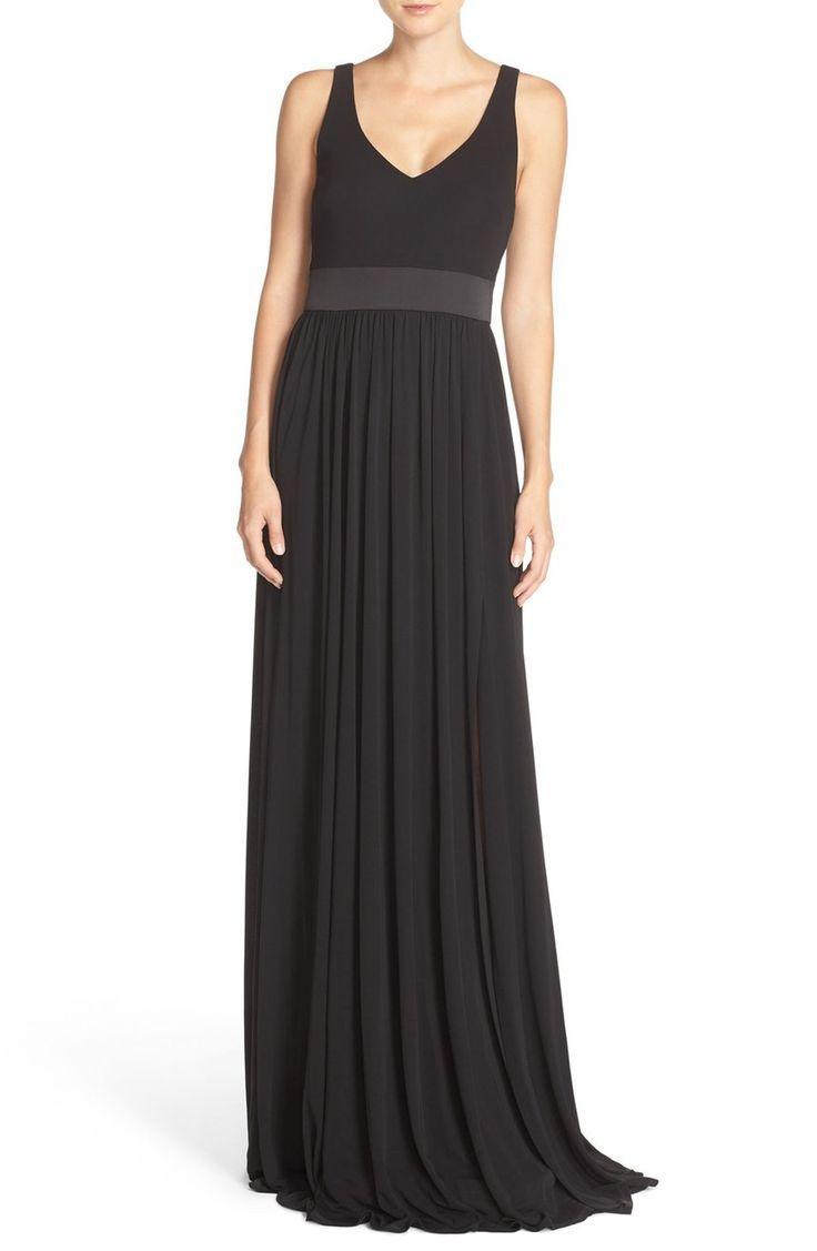 Свадьба - Vera Wang V-Neck Jersey Gown