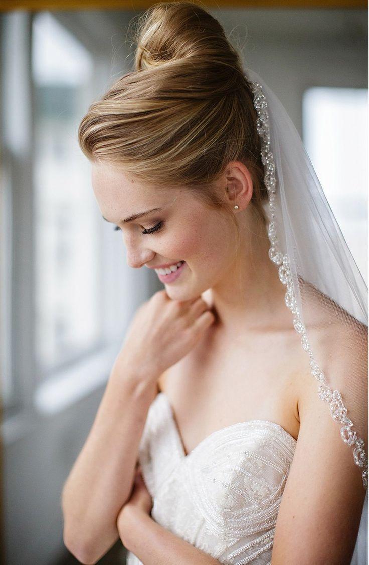 Свадьба - Brides & Hairpins 'Lydia' Embellished Tulle Veil