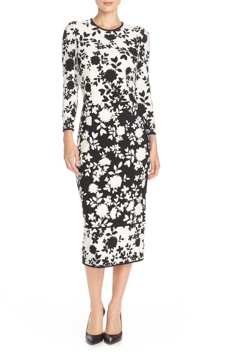 Свадьба - Maggy London Floral Print Jersey Midi Dress