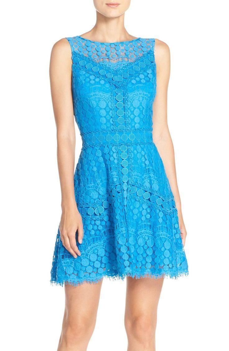 Свадьба - Adelyn Rae Lace Fit & Flare Dress