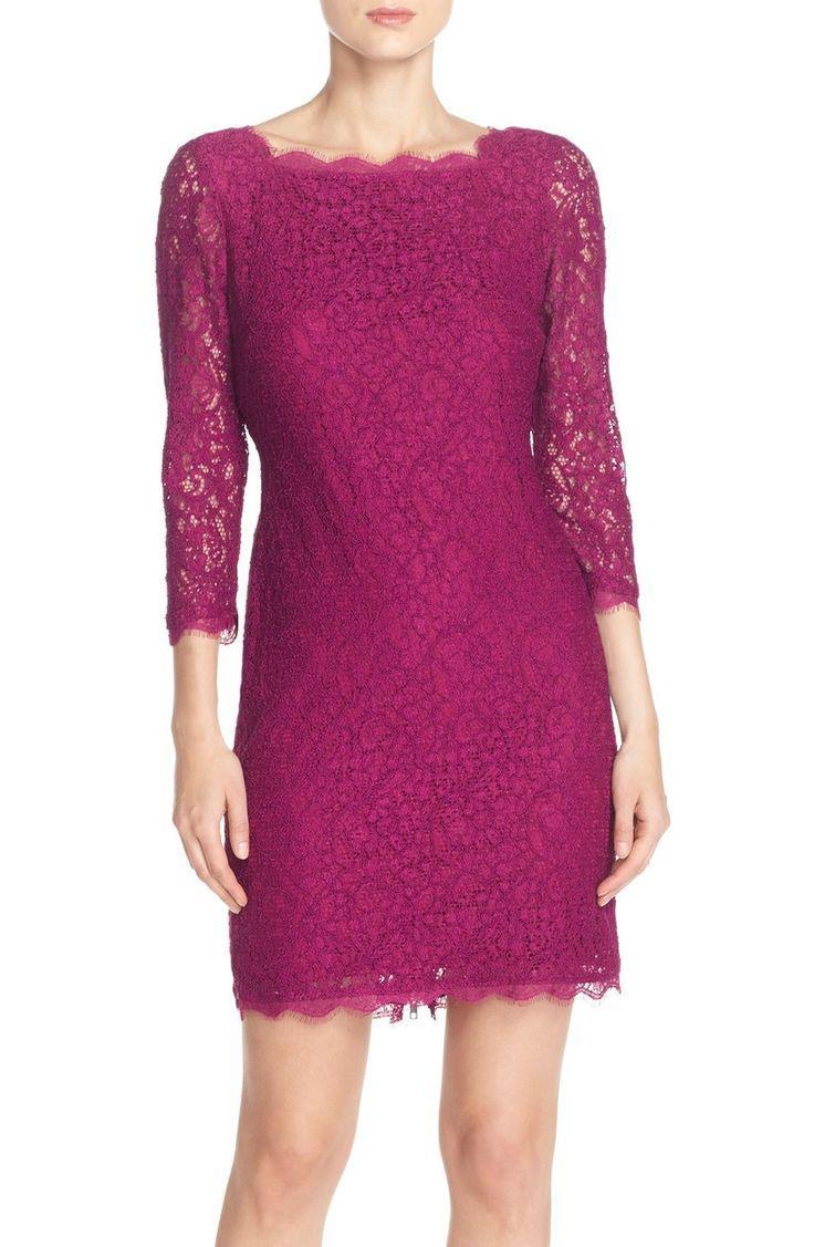 Свадьба - Adrianna Papell Lace Overlay Sheath Dress (Regular & Petite)