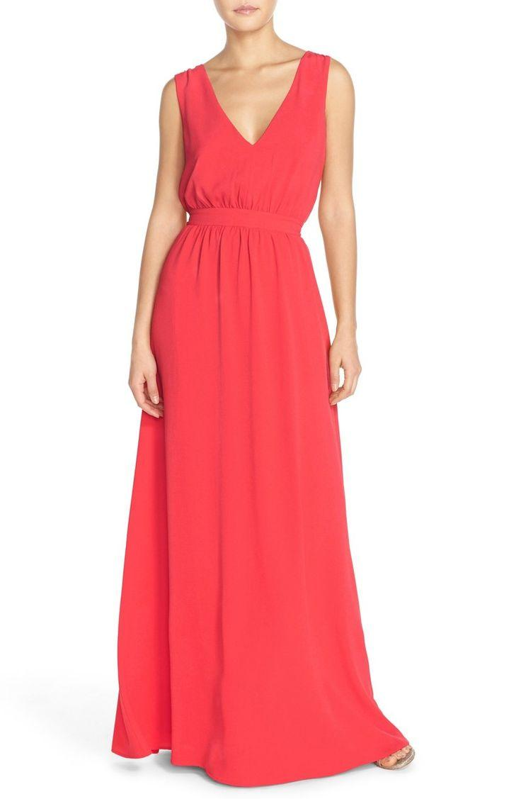 Свадьба - Paper Crown by Lauren Conrad 'Sonoma' Tassel Back V-Neck A-Line Gown