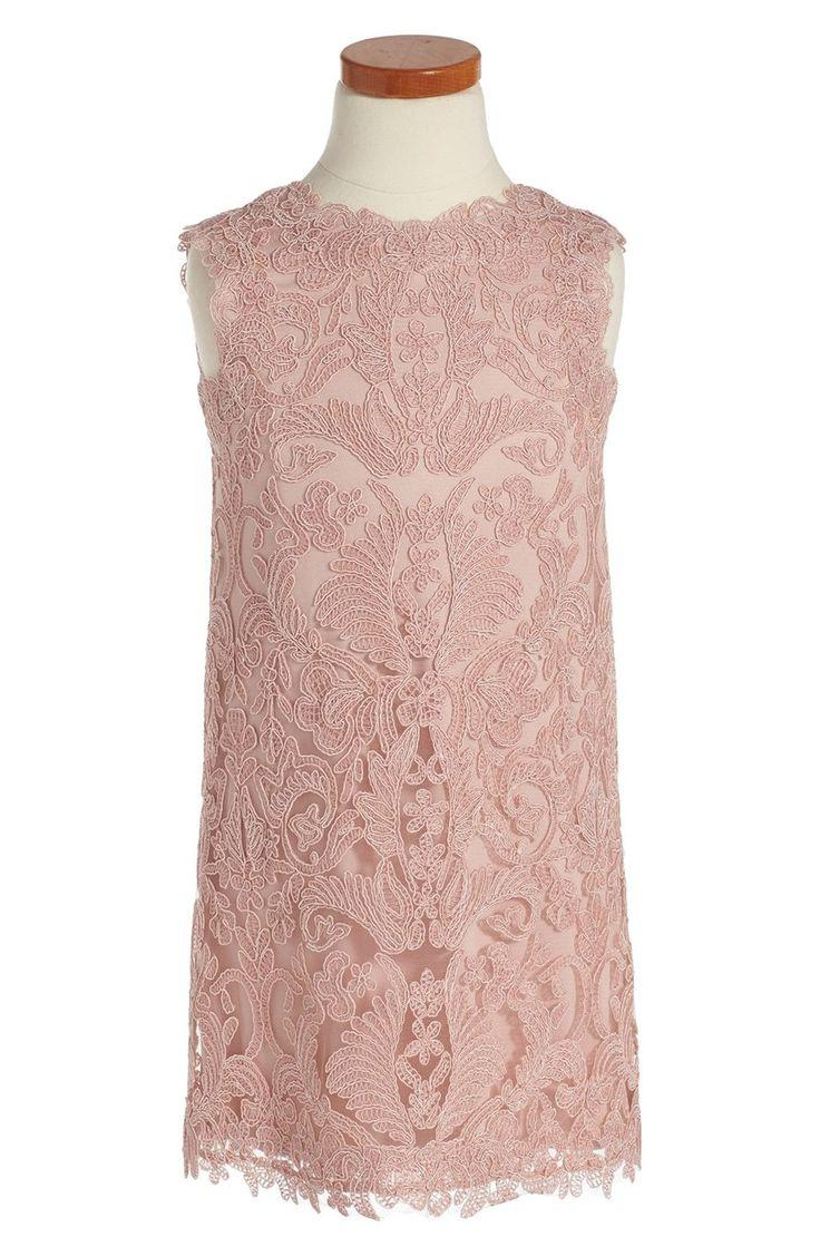 Свадьба - Tadashi Shoji 'Honeysuckle' Embroidered Tulle Dress (Toddler Girls, Little Girls & Big Girls)