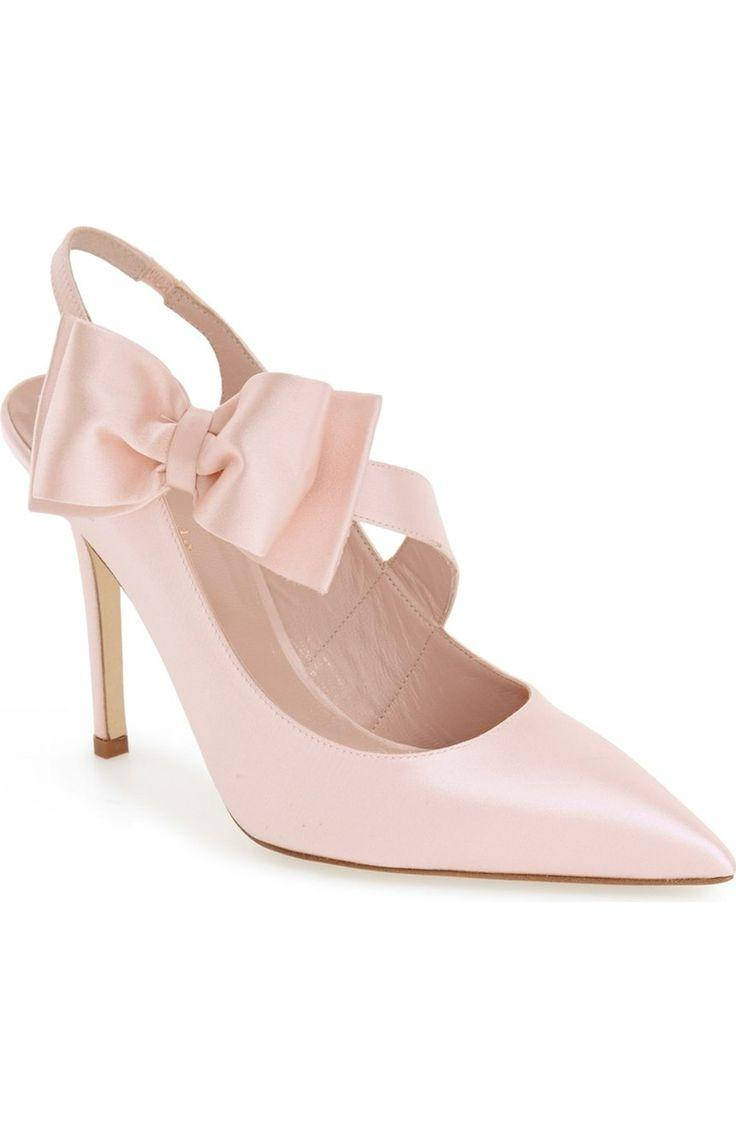 Свадьба - kate spade new york 'livia' satin slingback pump (Women)