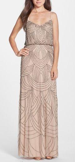 Свадьба - Adrianna Papell Beaded Chiffon Blouson Gown