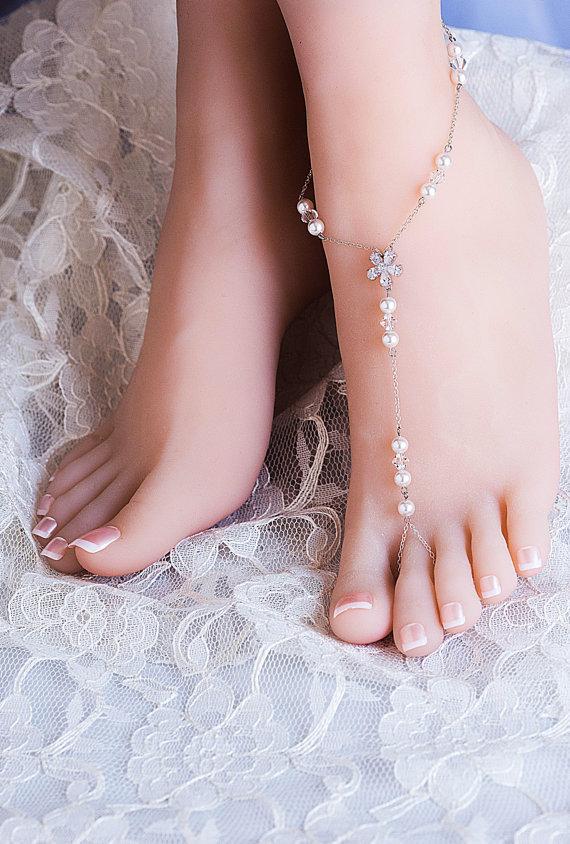 bd31d8785c9649 Wedding Barefoot Sandals