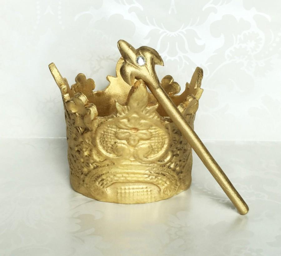 Fondant Gold Crown Cake Topper. Prince Crown Cake Topper. 1st ...