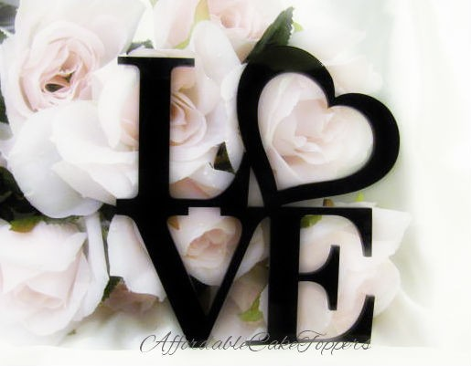 Свадьба - Love Cake Topper - Love Heart Cake Topper - Wedding Cake Topper - Mr and Mrs - Bride and Groom