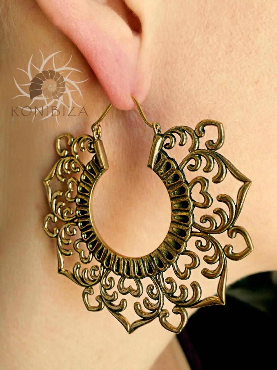 Br Earrings Hoops Gypsy Tribal Ethnic Indian Eb88