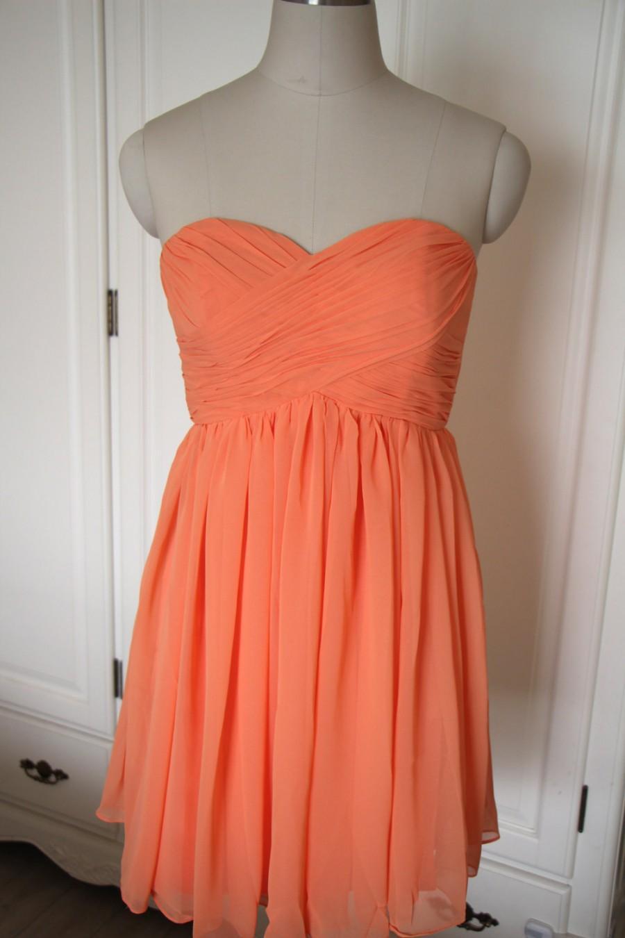 Short Orange Bridesmaid Dresses 52