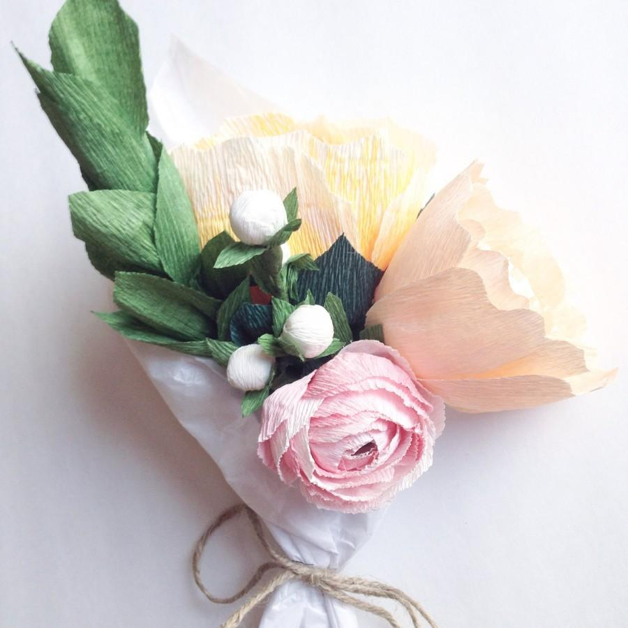 paper flower arrangement wedding centerpiece paper flowers wedding bouquet crepe paper flowers