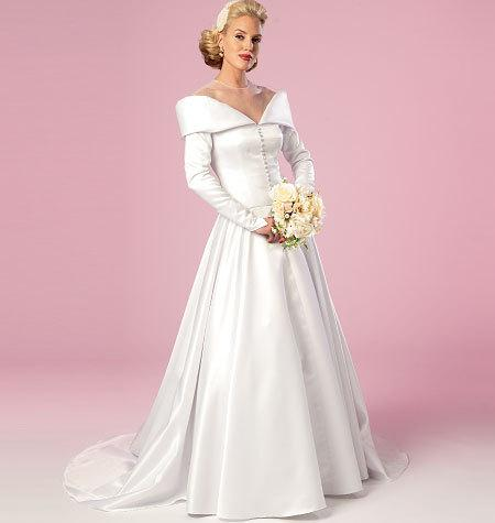 Vintage Wedding Dress White Erick 6022 Plus Size Pattern