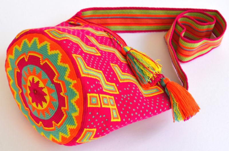 Свадьба - AUTHENTIC MOCHILA WAYUU / LARGE SIZE / FINEST QUALITY / HANDMADE CROSS BODY BAG