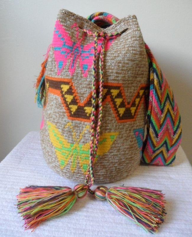 Свадьба - FREE US Shipping Colombian Handmade Wayuu Mochila shoulder crosbody Nuanced Bag