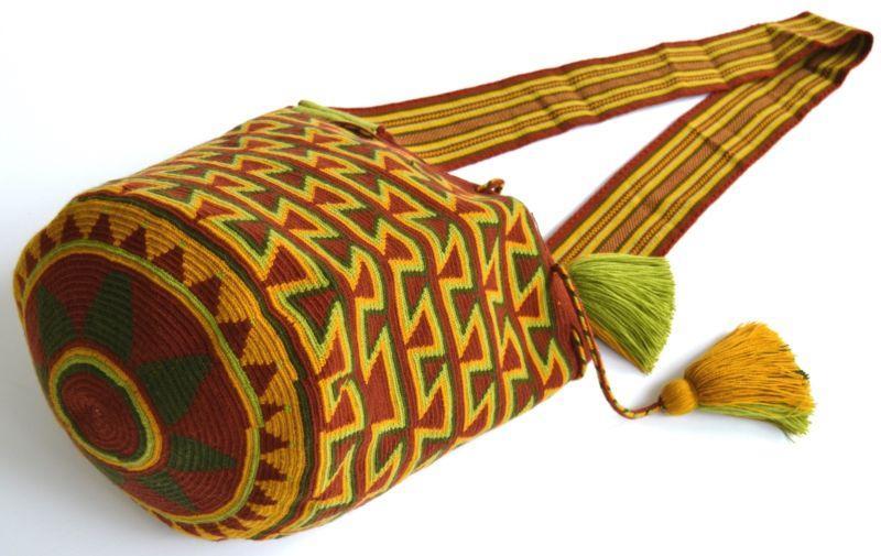 زفاف - AUTHENTIC MOCHILA WAYUU / LARGE SIZE / FINEST QUALITY / HANDMADE CROSS BODY BAG