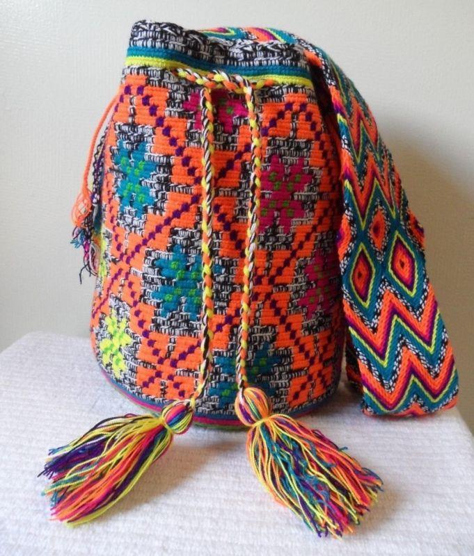 زفاف - FREE US Shipping Colombian Handmade Wayuu Mochila crossbody shoulde nuanced Bag