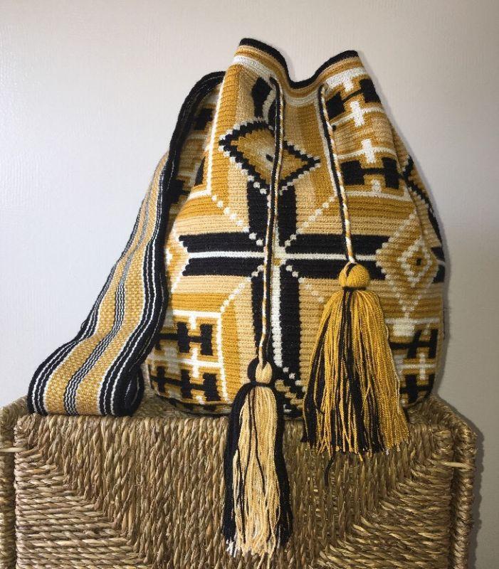 زفاف - Single Thread AUTHENTIC MOCHILA WAYUU LARGE SIZE HANDMADE CROSSBODY BAG 1 Hebra