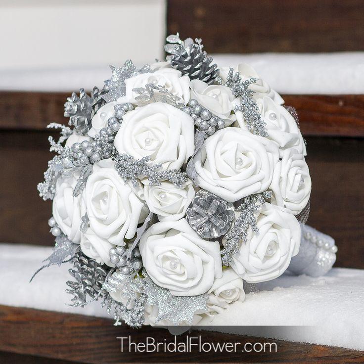 Wedding Theme Silver Gray Wedding Bouquets 2548540 Weddbook