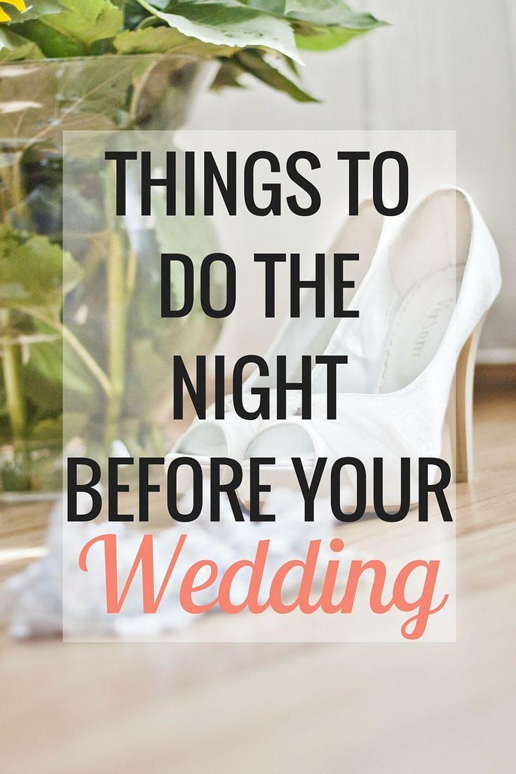 weddings things to do