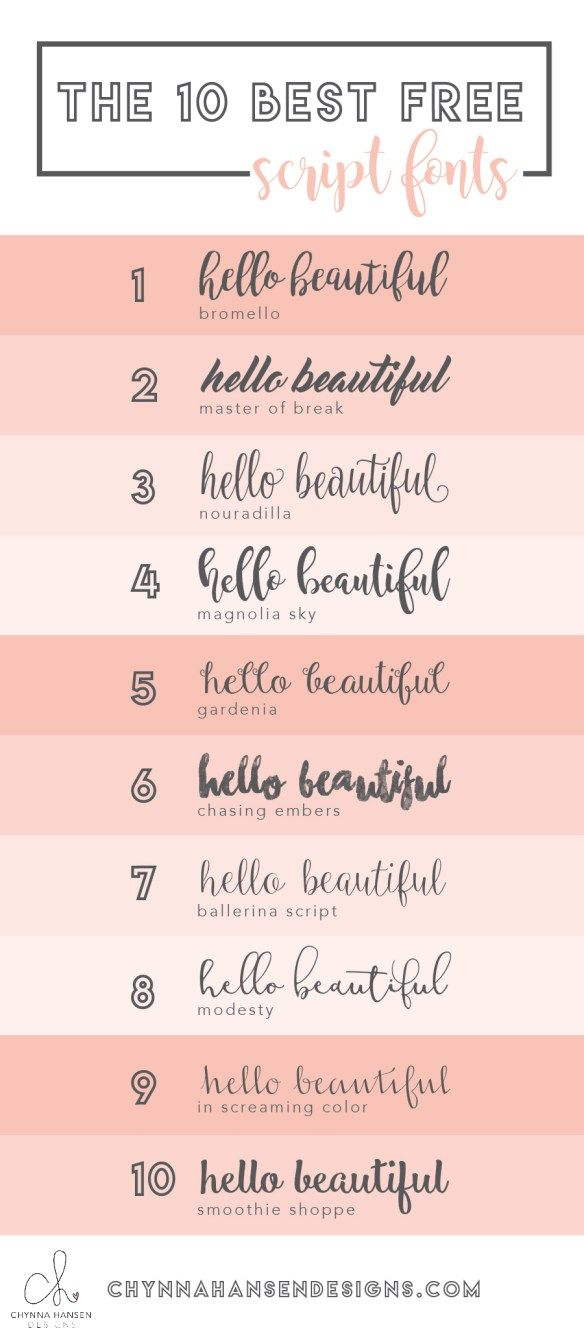 Mariage - The 10 Best Script Fonts For 2016