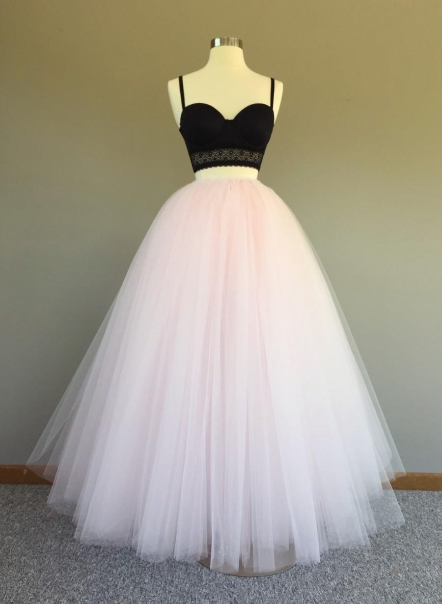 Tulle Skirt Floor Length Tulle Skirt Pink Tulle Skirt