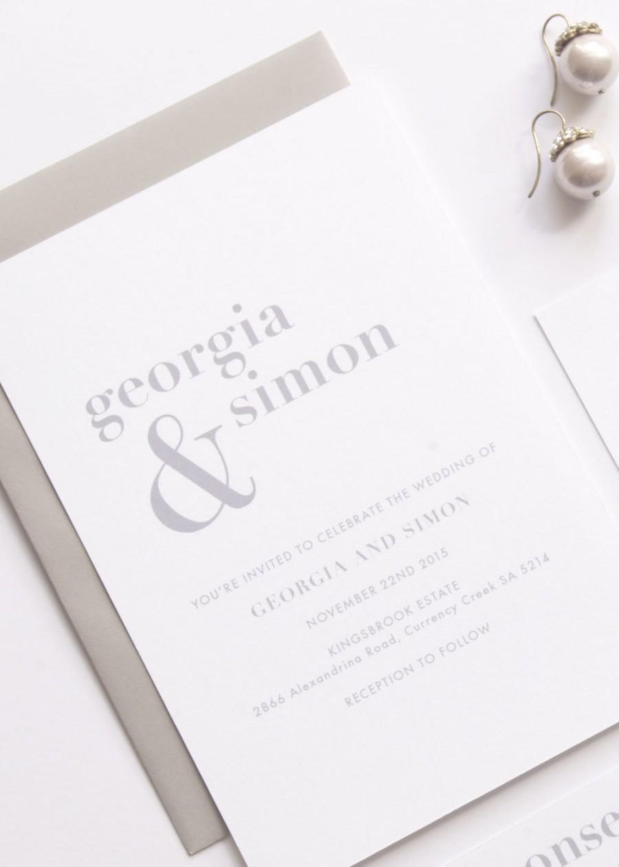 GEORGIA Wedding Suite - DEPOSIT - Wedding Invitation, Simple Wedding ...