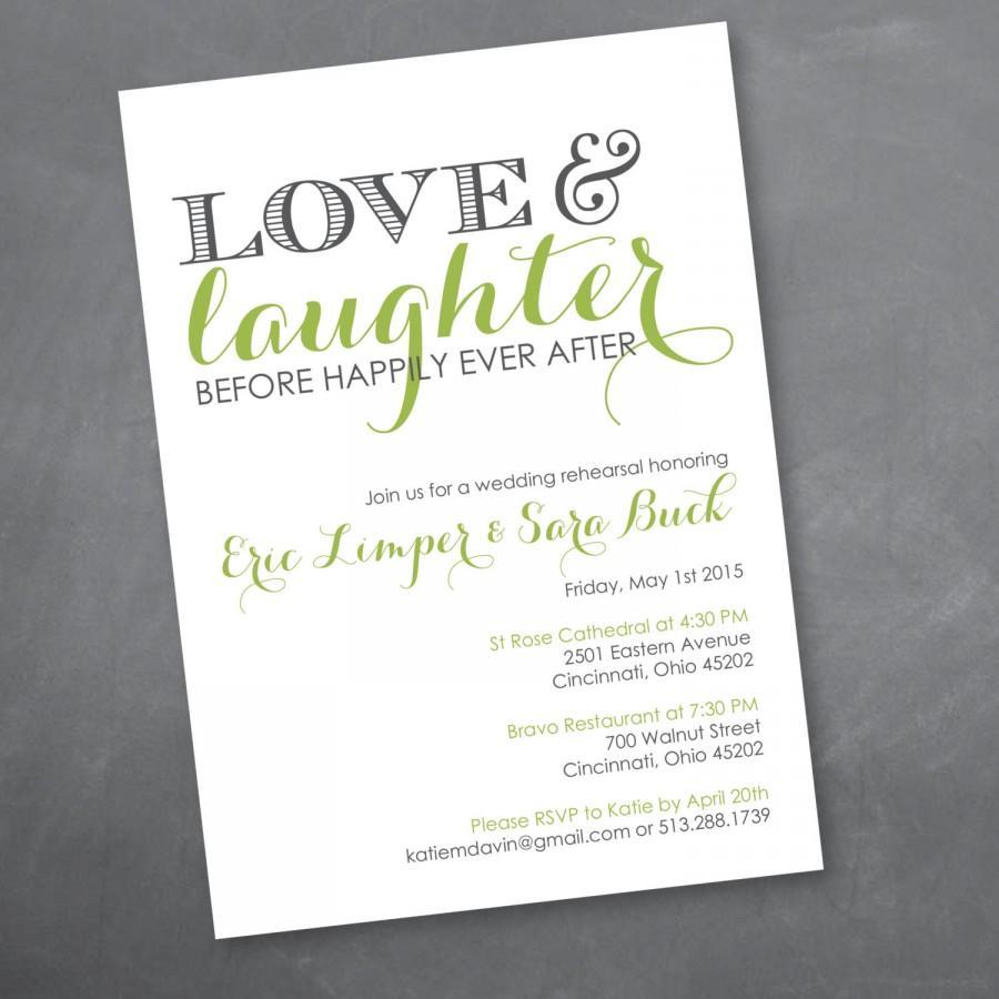 Love And Laughter Rehearsal Dinner Invitation Digital