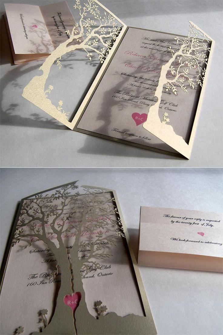 Wedding - Love Tree Laser Cut Wedding Invitation