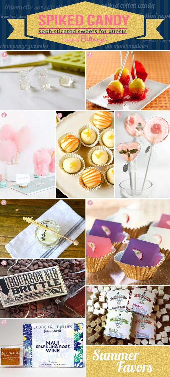 Свадьба - Sweet, Spiked, Sophisticated! Candy With Booze As Wedding Favors