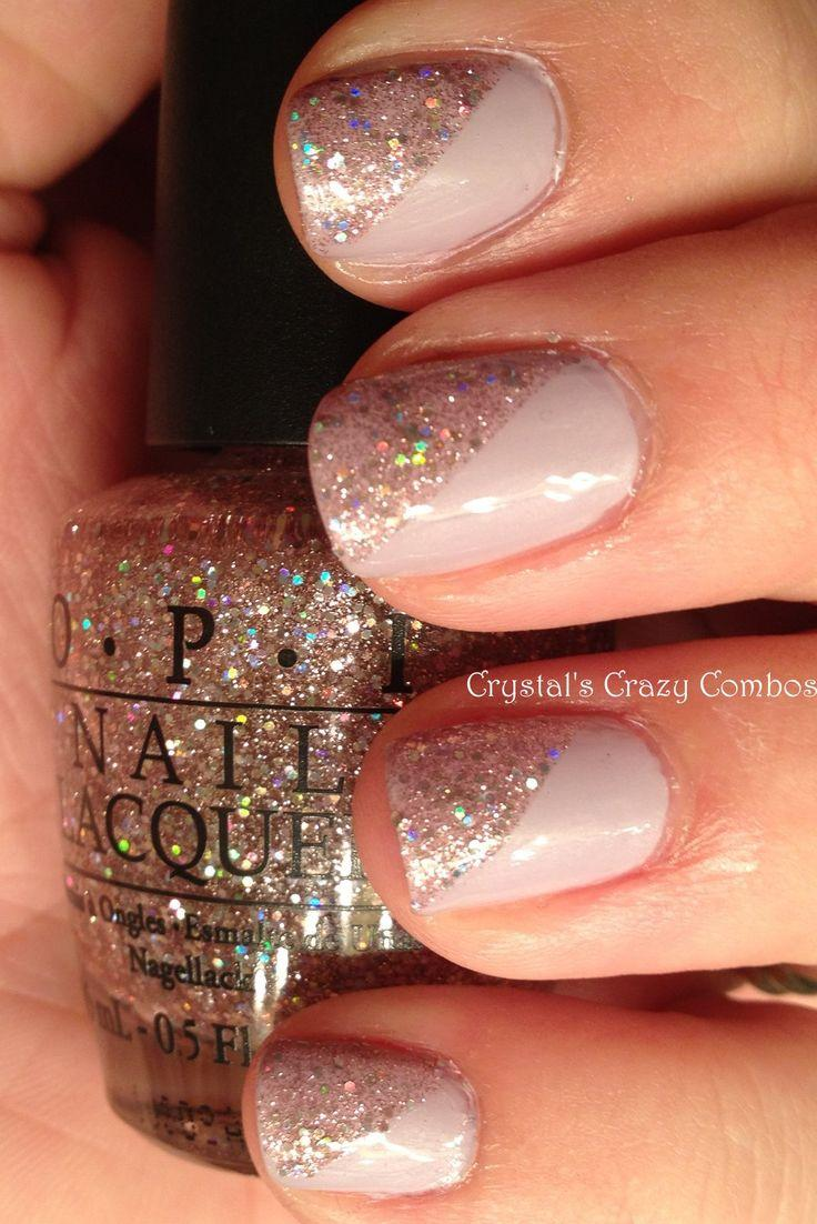 Wedding - Glitter Nude Nails