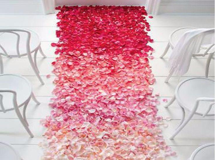 Свадьба - 21colors 100pcs Atificial Wedding Rose Petals