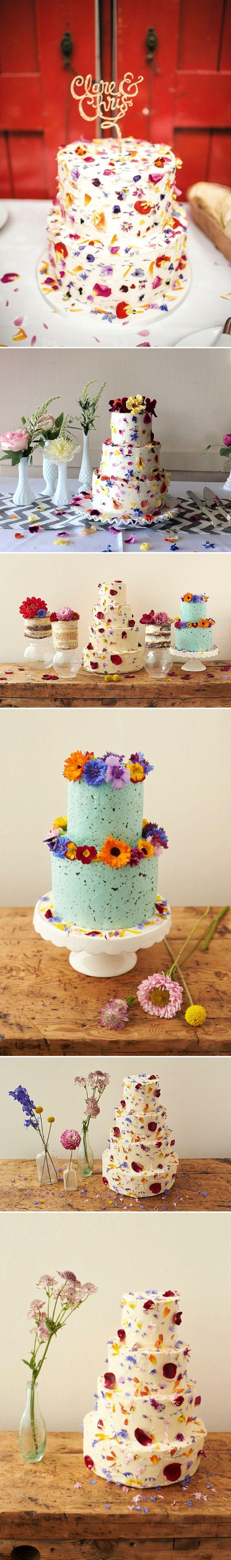 Свадьба - How To Decorate A Wedding Or Celebration Cake With Edible Petals - Bee's Bakery