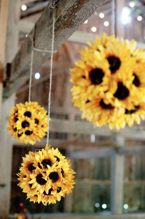 Wedding - Sunflower Pomander Kissing Ball