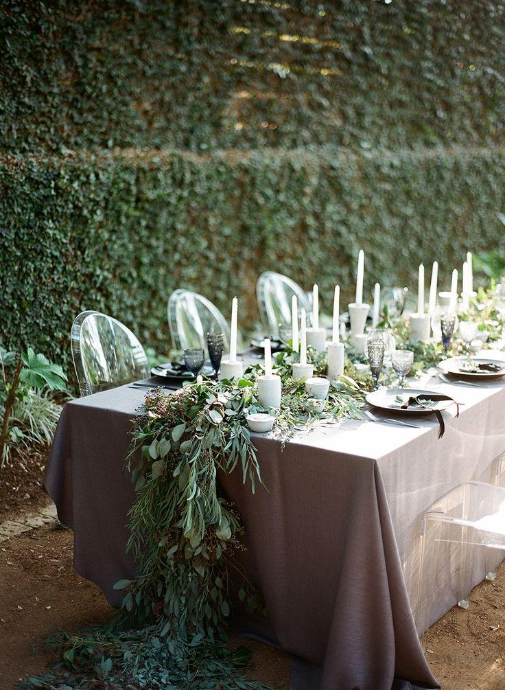 Mariage - Dramatic Fall Tablescapes