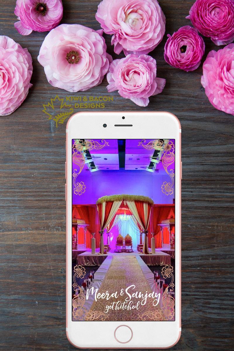 Hochzeit - Indian Wedding Snapchat Geofilter - Get Hitched