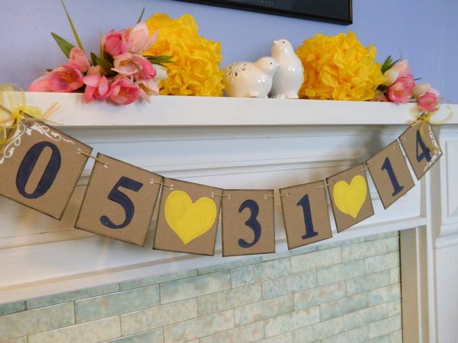 زفاف - Wedding Date Banner - Save The Date Banner - Engagement Photo Prop Sign - Save The Date Invitation - Bridal Shower Deco