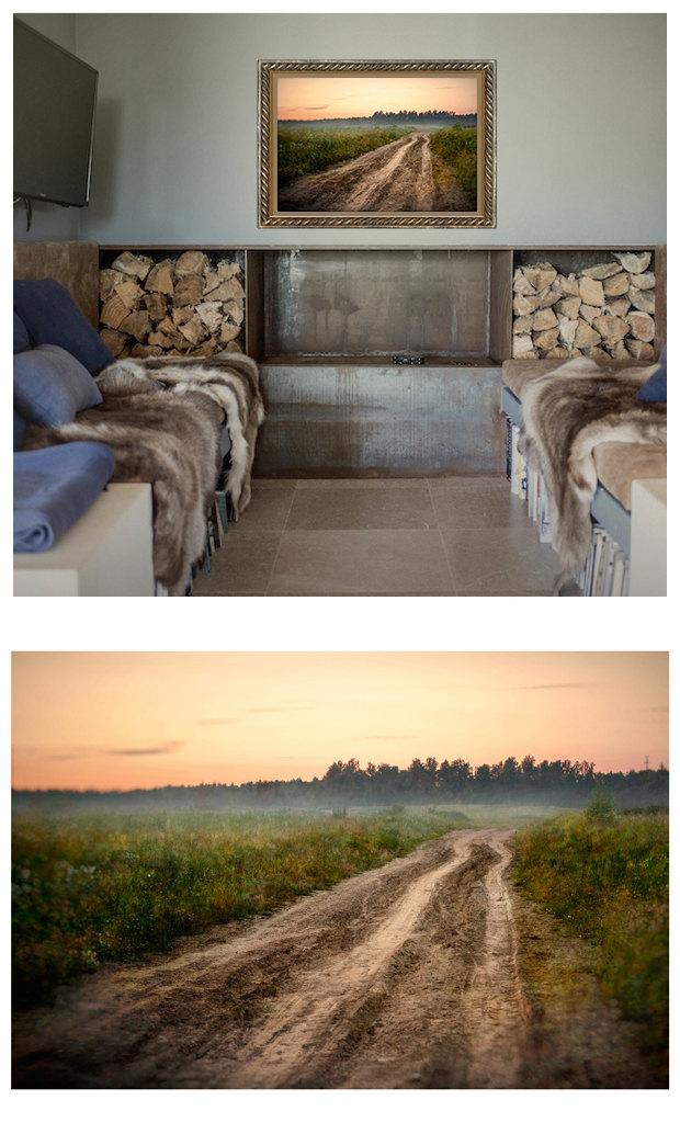 Wedding - Cottage wall art, Russian landscape photography, large art prints, rural road art, summer countryside nature art, 12x16, 18x24, 20x30, 24x36