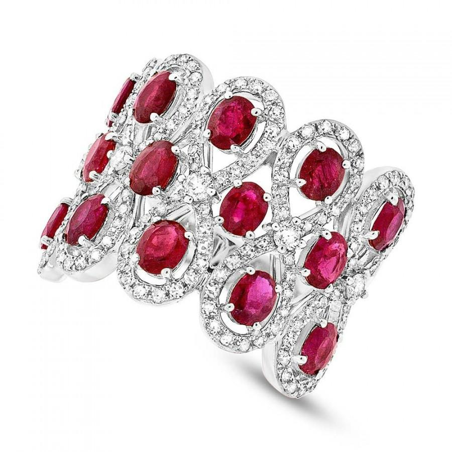 Ruby Diamond 14k White Gold Ring