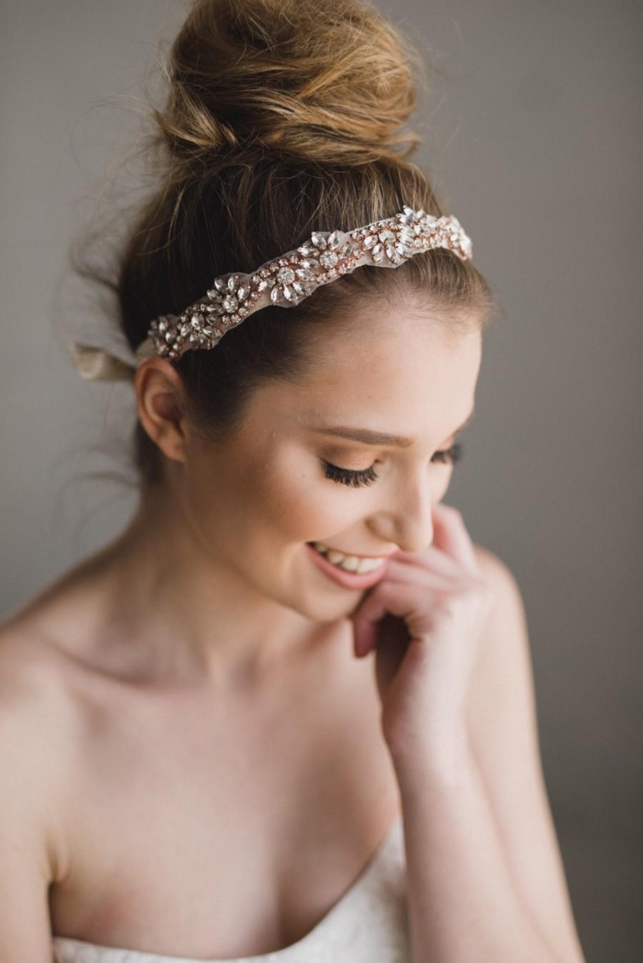 زفاف - Rose Gold Headband