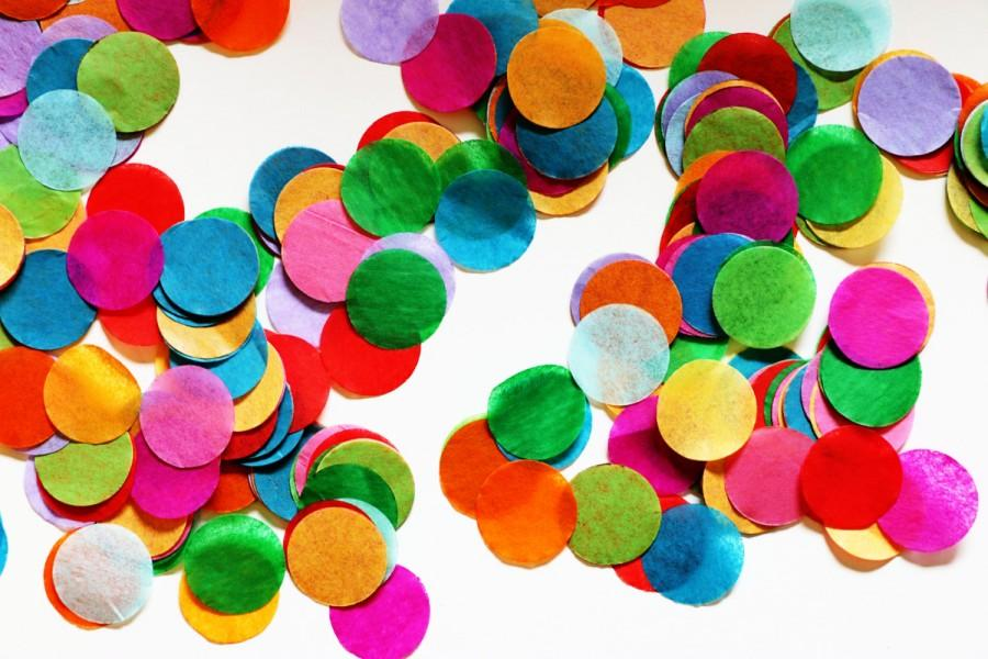 Mariage - Tissue Rainbow Confetti - Circle Shaped