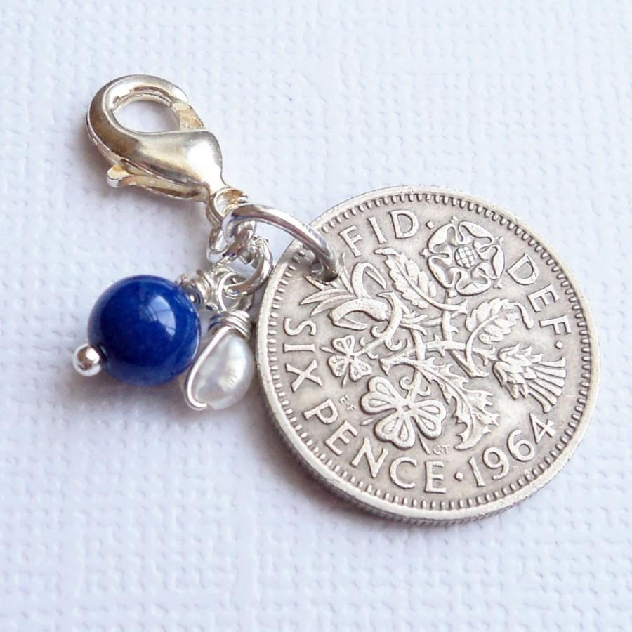 Something Old Or Borrowed Wedding Charm Vintage Lucky Sixpence