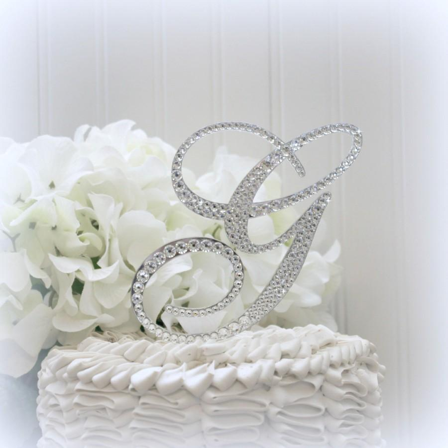 5 Wedding Cake Topper Monogram Initial Cake Toppers Bling In