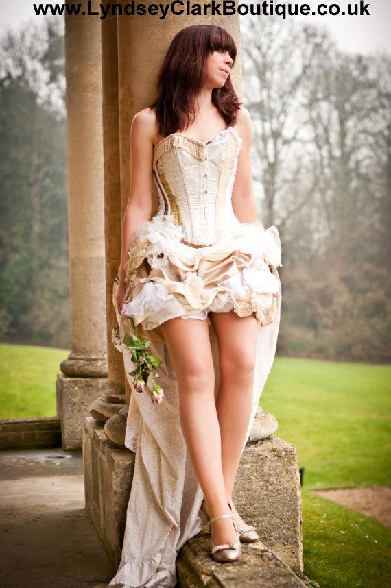 زفاف - Steampunk Victorian wedding dress/ prom sexy corset bustle gothic clothing. Custom MADE TO ORDER/ measure