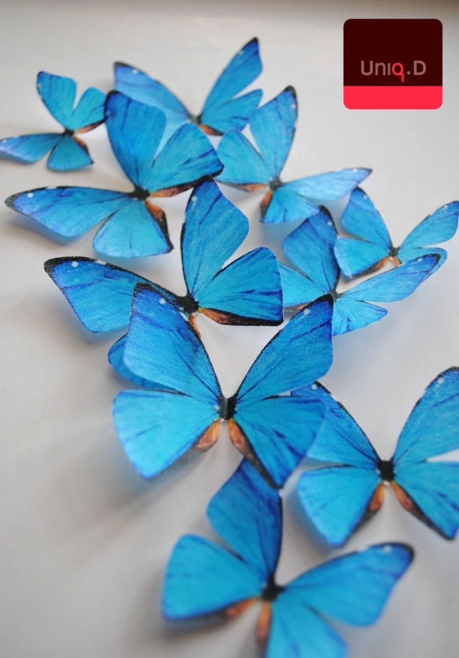 Wedding - 19 edible frozen butterflies - frozen cupcake toppers - frozen decoration - frozen cake decoration edible butterflies by Uniqdots on Etsy