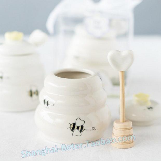Wedding - Beter Gifts®陶瓷蜂蜜罐,创意回赠日式婚礼回礼满月酒宝宝生日庆生派对BETER-TC006