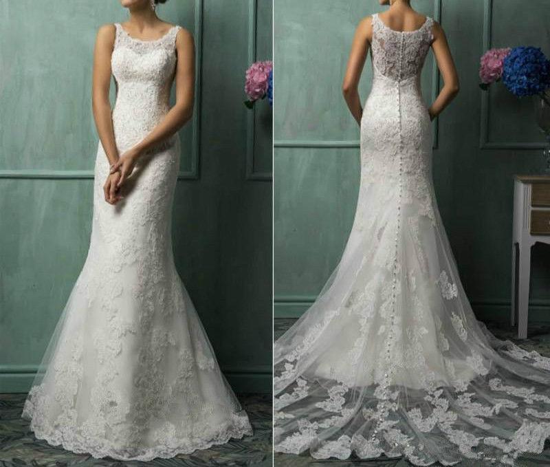 زفاف - White/Ivory Lace Wedding Dress Bridal Gown Custom Size4 6 8 10 12 14 16 18 +++++