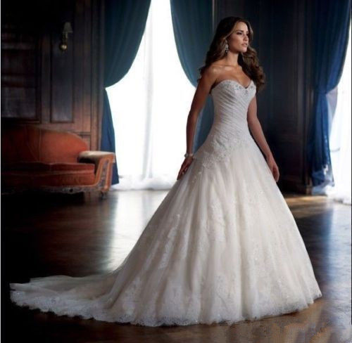 زفاف - white/ivory Lace Mermaid Wedding Dress Bridal Gown Custom Size: 6 8 10 12 14 16+