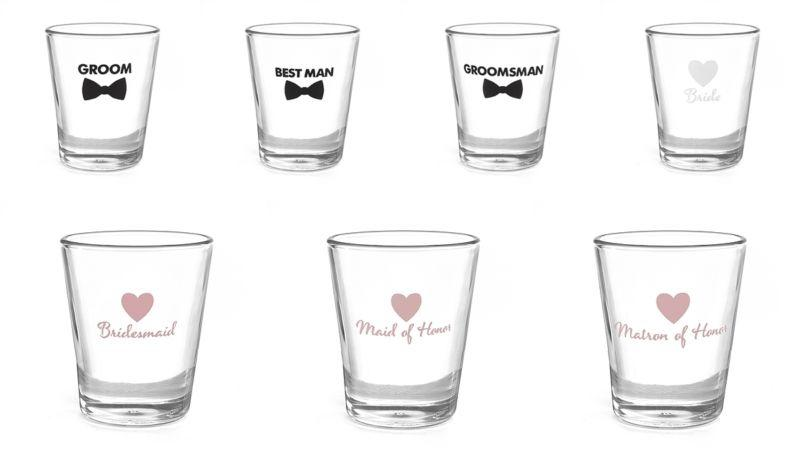 Свадьба - New Wedding Shot Glass Bridal Party Favour Gift
